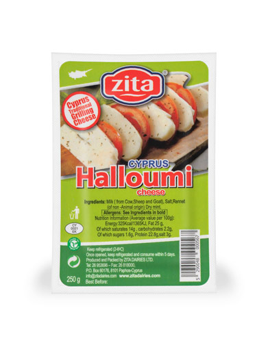 Halloumi Cheese (blend of cow's, goat's and ewe's milk)
